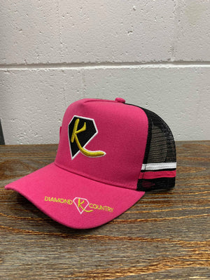ADULT'S - Pink Diamond K Country Cap