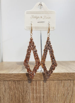 Gold Sparkling Chandelier Earrings