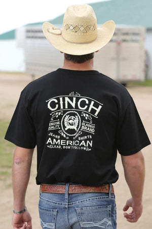 Men's Cinch Black Jersey American Tee Shirt - Diamond K Country