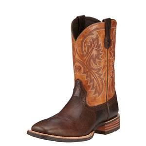 Men's Ariat Quick Draw Thunder Brown Boots - Diamond K Country