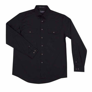 Just Country Evan Full Button Shirt Men's Black - Diamond K Country