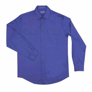 Just Country Evan Full Button Shirt Men's Blue - Diamond K Country