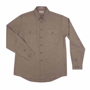 Just Country Evan Full Button Shirt Men's Brown - Diamond K Country