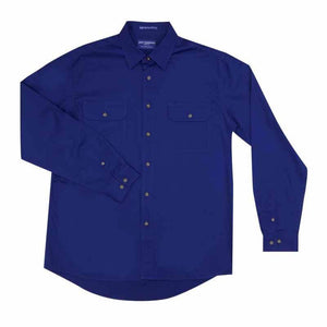 Just Country Evan Full Button Shirt Men's Cobalt - Diamond K Country