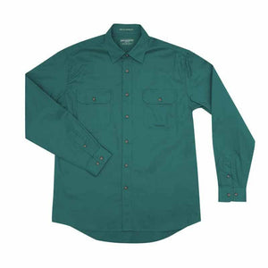 Just Country Evan Full Button Shirt Men's Dark Green - Diamond K Country