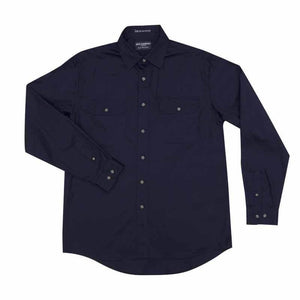 Just Country Evan Full Button Shirt Men's Navy - Diamond K Country