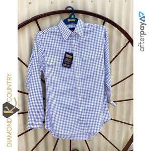 Men's Bisley Blue & Beige Check Shirt