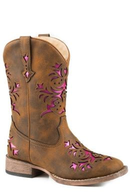 The Big Kid's Roper Lola Boot in Brown