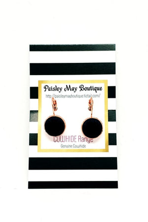 Paisley May Boutique Drop Cowhide Earring #2