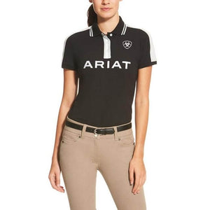 Women's Ariat New Team Polo Shirt Black