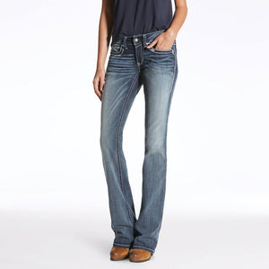 Women's Ariat R.E.A.L. Mid Rise Boot-Cut Jeans