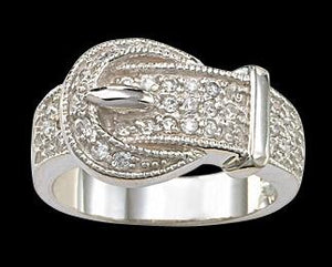 Women's Montana Silversmiths Crystal Buckle Ring