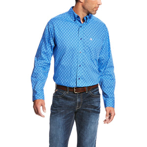 Men's Ariat Blue Marina Marvel Print Shirt