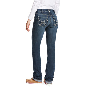 Women's Ariat R.E.A.L Low Rise Straight Leg Jeans Kylie Gemstone