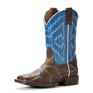 Ariat Kid's Twisted Tycoon Brown & Blue Western Boots 10027277