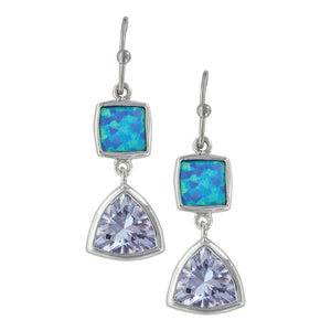 Women's Montana Silver River of Light Cold Mountain Water Earrings