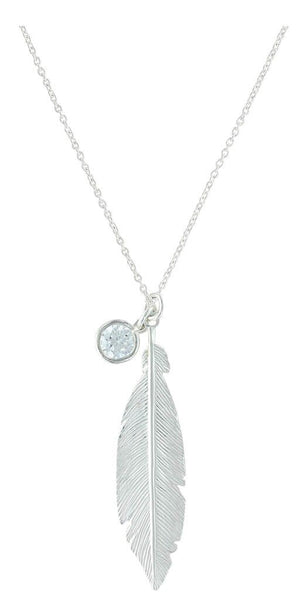 Women's Montana Silversmiths Starlight Feather Necklace