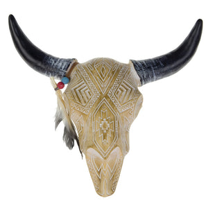 Brigalow Resin Bull Skull Cream