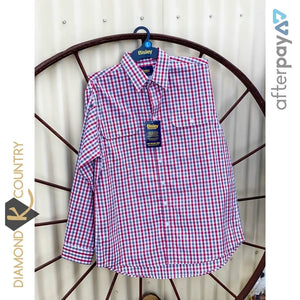 Men's Bisley Red & Grey Check Shirt