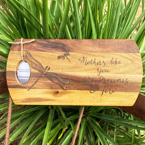 "Rosie B - ""Mother Like You' Acacia Serving Board"