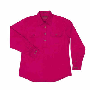Just Country Jahna 1/2 Button Shirt Women's Magenta - Diamond K Country