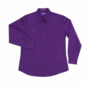 Just Country Jahna 1/2 Button Shirt Women's Purple - Diamond K Country