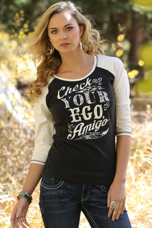 Women's Cruel Girl Check Your Ego Amigo L/S Shirt