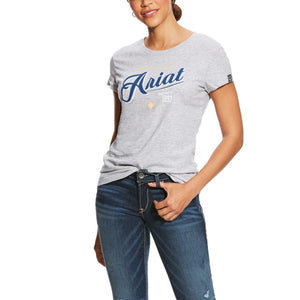 Women's Ariat Logo Tee - Heather Grey