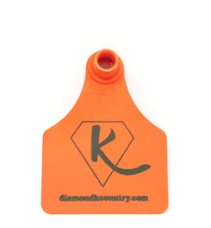 Diamond K Country Cattle Tag  Keyring