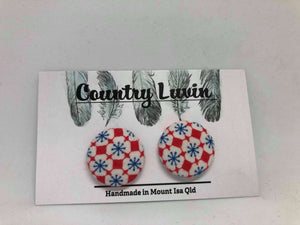 Country Luvin' 23mm White Flower Earring #9