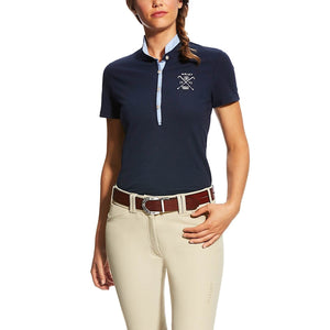Women's Navy Ariat Del Mar Polo