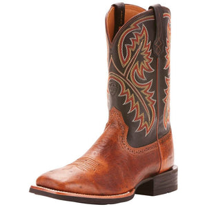 The Ariat Quickdraw Horseman Boots in Ostrich Leather