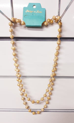Monica's Gold Double Wrap Beaded Necklace
