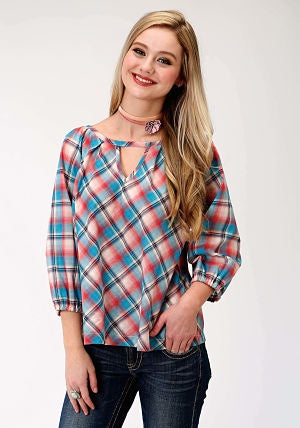 Women's Roper Five Star Collection L/S Shirt - Red