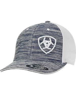 Men's Ariat Mesh Grey Trucker Cap