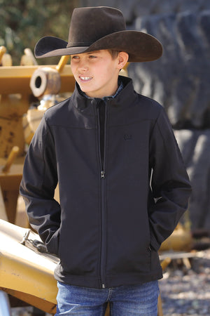 Boy's Cinch Black Bonded Softshell Jacket