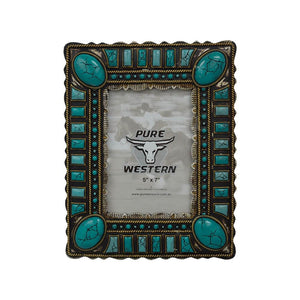 Pure Western Photo Frame Turquoise Gems