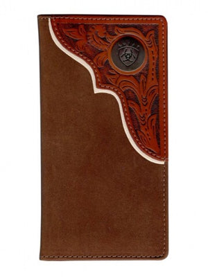 Ariat Brown and Tan Rodeo Wallet