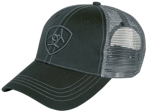 Ariat Black & Charcoal Truckers Cap 4-362Black