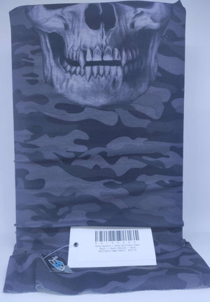 Face Shield - Grey Military Camo Skull