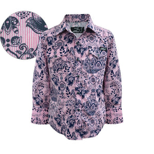 Girls Pure Western Gigi Print Shirt - Diamond K Country