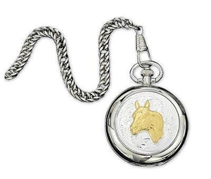 Montana Silversmiths  Horse Head Pocket Watch