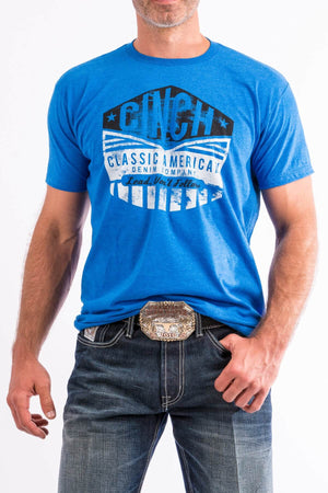 Men's Cinch Blue Graphic Tee Shirt