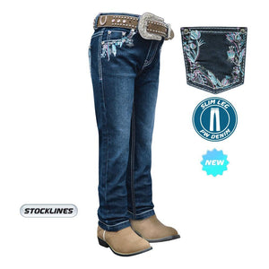 Girl's Pure Western Madison Slim Leg Jeans - Diamond K Country