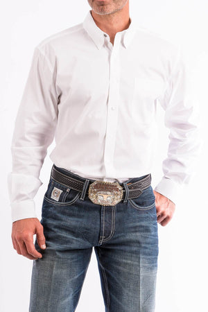 Men's Cinch Modern Fit White Shirt