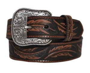 The Unisex Ariat Tan Leaf Belt