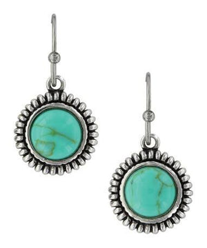 Women's Montana Silversmiths Turquoise Sunflower Earrings