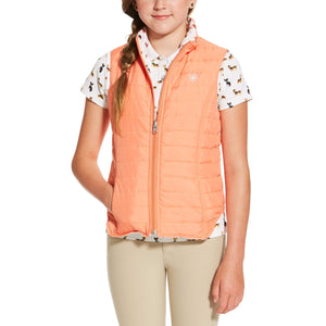 Girl's Emma Reversible Peach Vest - Diamond K Country