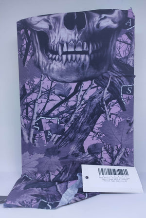 Face Shield - Purple Forrest Camo Skull