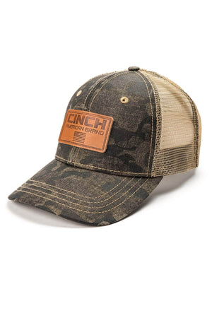 Men's Cinch Camo Trucker Cap